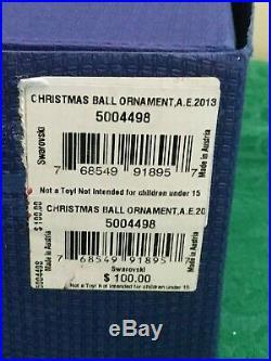 SWAROVSKI Crystal CHRISTMAS BALL ORNAMENT AE 2013 #5004498 NIB Free Shipping