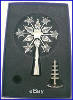SWAROVSKI Crystal Christmas Tree Topper Chrome Plated Original Box 632784
