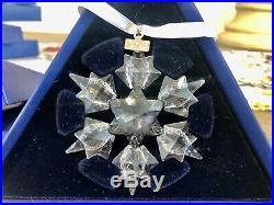 SWAROVSKI Crystal Large CHRISTMAS ORNAMENT 2010 SNOWFLAKE/STAR Original Box, MINT