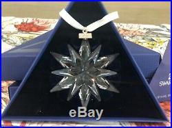 SWAROVSKI Crystal Large CHRISTMAS ORNAMENT 2011 SNOWFLAKE/STAR Original Box, MINT