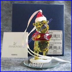 SWAROVSKI Crystal WINNIE THE POOH CHRISTMAS ORNAMENT #5030561 Retired NEW