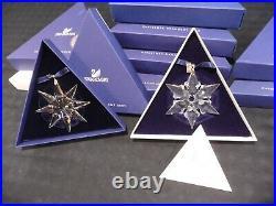 SWAROVSKI Lot 2000 2013 Limited Crystal Christmas Ornaments (Qty. 14)