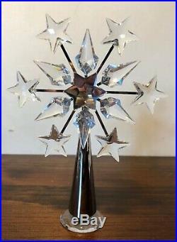 SWAROVSKI crystal SILVER/RHODIUM chrome christmas TREE TOPPER #632784