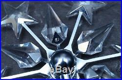 SWAROVSKI crystal SILVER/RHODIUM chrome christmas TREE TOPPER #632784 RETIRED