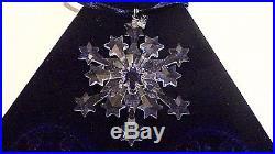 Set 3 Swarovski Annual Edition 2004 Star Snowflake Crystal Christmas Ornaments