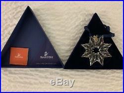 Set Of 8 Swarovski Crystal Snowflake Limited Edition, Christmas Ornaments 02-09