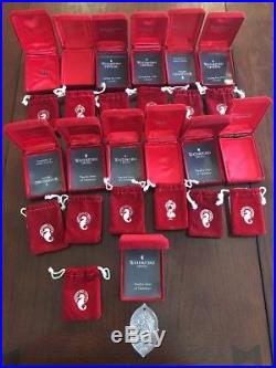 Set of 12 Waterford Crystal 12 Days of Christmas Ornaments incl. 1982 Lot Of 13