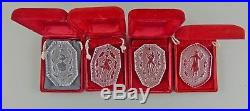 Set of 12 Waterford Crystal ANNUAL ORNAMENTS 12 Days of Christmas with Boxes