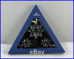 Set of 3 Swarovski Crystal Christmas Star Snowflakes 2013