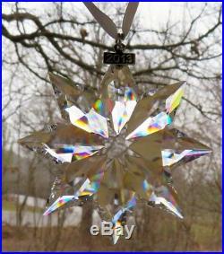 Set of THREE SWAROVSKI Crystal 2013 Annual Star Christmas Ornaments NEW IN BOX