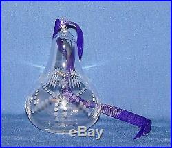 Signed William Yeoward Crystal Christmas Ornament 1999