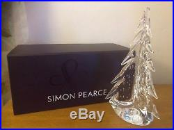 Simon Pearce Crystal Glass 10 Vermont Bubble Evergreen Christmas Tree New Box