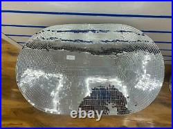 Sparkly Ornamental Decorative Heart Side Table Diamond Crush Crystal Silver