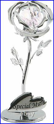 Special Mum Flower with Swarovski crystal element Gift Mummy Birthday Ornament