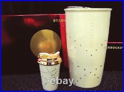 Starbucks NEW 2015 SWAROVSKI Crystals TUMBLER + ORNAMENT + Red Shiny GIFT BOXES