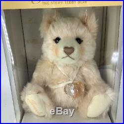 Steiff X Swarovski Jewels Bear w Crystal Heart Ornament Pendant NRFB EAN 669873