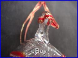 Steuben Crystal Art Glass Christmas Ornament Holiday Present Gift Sculpture Box