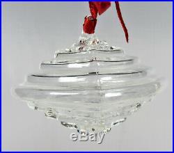 Steuben Crystal Christmas Ornament Geometric Shape 1995 with Bag