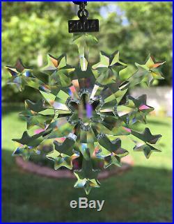 Stunning 2004 SWAROVSKI Christmas CRYSTAL Ornament MIB Mint AUSTRIA Limited Edit