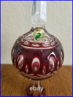 Stunning Waterford Cased Crystal Ruby Red Clarendon Christmas Tree Topper