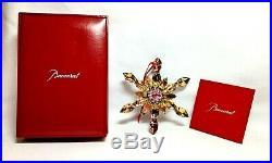 Superb BACCARAT NOEL Snowflake Ornament #2804665 Lead Crystal Yellow 2013 NIB