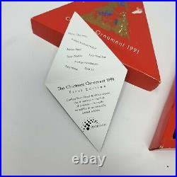 Swarovski 1991 Crystal Christmas Ornament/Star First/Limited Edition Complete