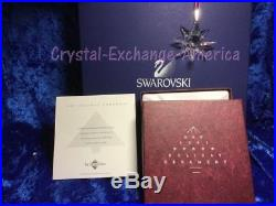 Swarovski 1991 Ornament. USA Christmas Crystal Star Snowflake. SCO1991 MIB+COA