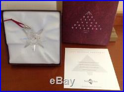Swarovski 1991 crystal Snowflake Ornament Christmas COA And BoxRare/Mint