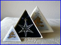Swarovski 1993 Crystal Snowflake Ornament Christmas COA / Box Mint