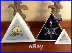 Swarovski 1993 crystal Snowflake Ornament Christmas COA And BoxMint