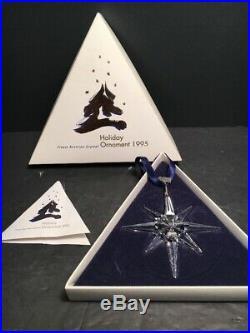 Swarovski 1995 Annual Christmas Crystal Ornament Star Complete & Perfect MIB