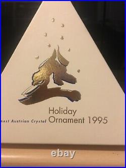 Swarovski 1995 Christmas Star Snowflake Ornament 194700 With Certificate Mint
