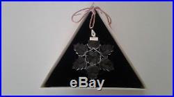 Swarovski 1996 Crystal Snowflake Christmas Ornament With Original Box