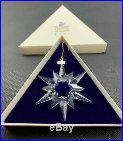 Swarovski 1997 Annual Christmas Snowflake Star Crystal Ornament (19-2456)
