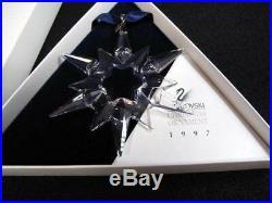 Swarovski 1997 Annual Christmas Snowflake / Star Crystal Ornament COA