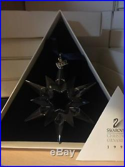 Swarovski 1997 Annual Edition Christmas Star Snowflake Ornament 211987 Perfect