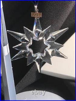 Swarovski 1997 Annual Edition Crystal Star Ornament Christmas Holliday