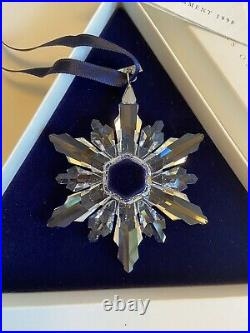 Swarovski 1998 Christmas Snowflake Ornament in Box and COA