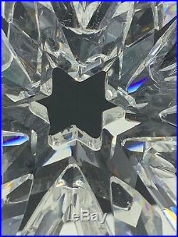 Swarovski 1999 Annual Christmas Snowflake Star Crystal Ornament (19-2451)