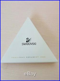 Swarovski 1999 Crystal Ornament w Box Christmas Star Snowflake large Mint
