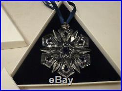 Swarovski 1999 Retired Crystal Christmas Ornament Box with COA