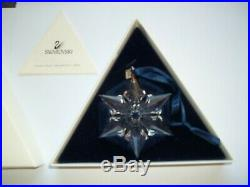 Swarovski 2000 Crystal Snowflake Christmas Ornament Retired in Box Excellent Con
