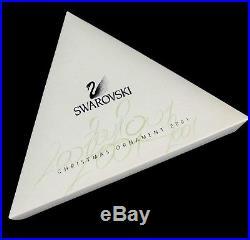 Swarovski 2001 Christmas Ornament Crystal Star Snowflake Original Boxes Document