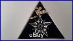 Swarovski 2001 Crystal Snowflake Christmas Ornament With Original Box