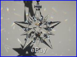 Swarovski 2001 Star Christmas Ornament Snowflake Crystal Annual Edition 267941