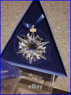 Swarovski 2002 Christmas Ornament Star 288802 Mint Boxed + Coa