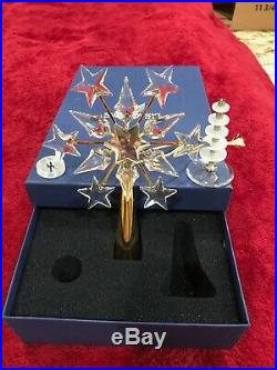 Swarovski 2002 Shining Stars Crystal Christmas Tree Topper, Gold Base In Box
