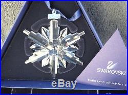 Swarovski 2006 Christmas Ornament Star 837613 Mint Boxed + Certificate
