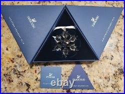 Swarovski 2010 BIG Crystal Snowflake Christmas Ornament New. Never Displayed