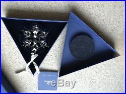 Swarovski 2010 Large Crystal Christmas Ornament/Snowflake, New In Box